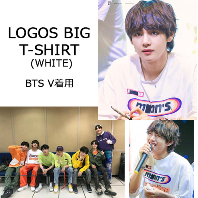[ENZO BLUES] LOGOS BIG T-SHIRT (WHITE)_BTS