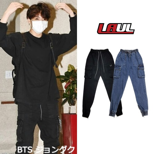[LAUL] COMFORTABLE CARGO JOGGER PANTS 2COLOR_BTS