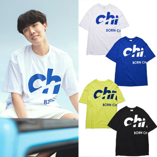 [BORNCHAMPS]SIDE CHMPS TEE CERBMTS02WH_BTS着用