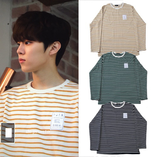 [DXOH] STRIPE T-SHIRT 3COLOR_TWICE_PRODUCE