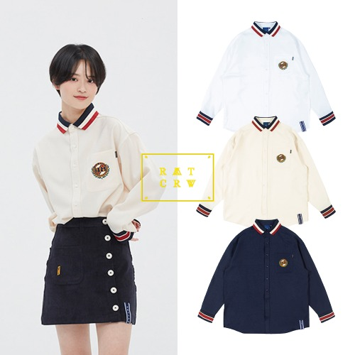 [ROMANTICCROWN] 21C BOYS COLLAR SHIRT 3COLOR