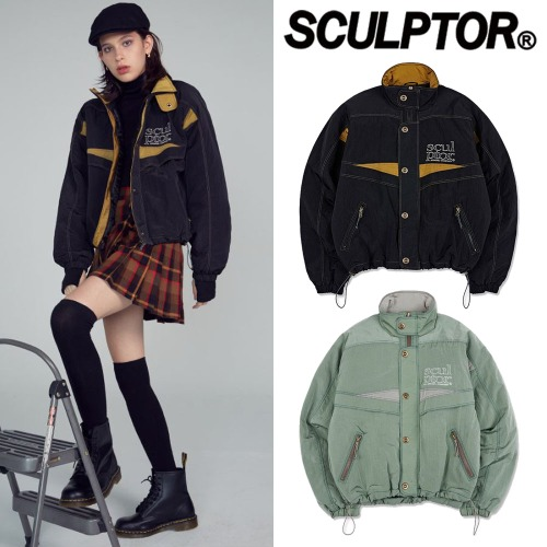[SCULPTOR] RETRO COMBI WINDBREAKER 2COLOR