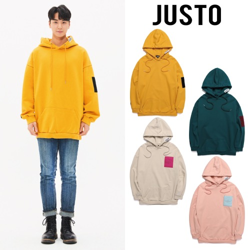 [JUSTO] VELCRO HOODIE 4COLOR
