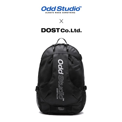 [ODDSTUDIO] ODD STUDIO X DOST COLLABO BACKPACK BLACK
