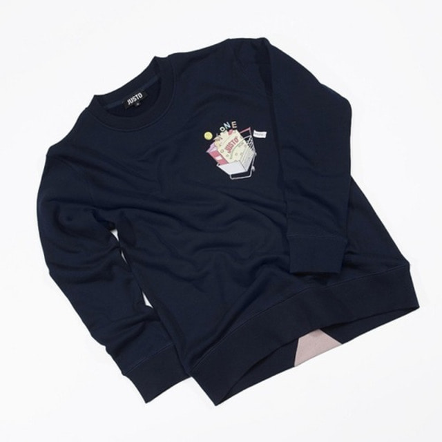 [JUSTO] JUSTO CART SWEATSHIRTS NAVY