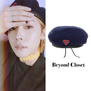 [BEYONDCLOSET] NOMANTIC WOOL BERET NAVY