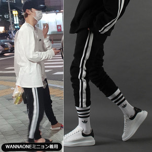 [TAKEASY]LINE CROP JOGGER (BLACK)