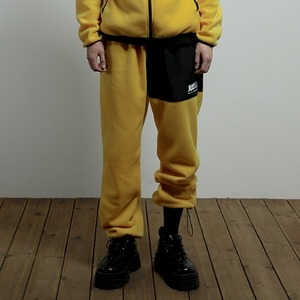 [JUSTO] JUSTO FLEECE PANTS YELLOW