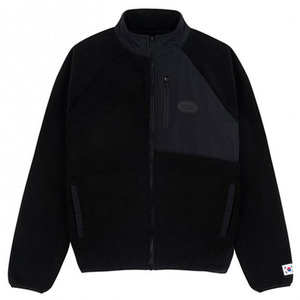 [IZRO] IZRO FLEECE ZIP UP BLACK