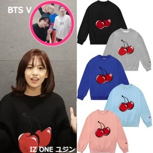 [KIRSH] BIG CHERRY SWEATSHIRT IS 5COLORS_IZ ONE