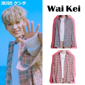 [WAIKEI] OPEN SLEEVE CHECK SHIRT 2COLOR_JBJ95/NCT/NUEST