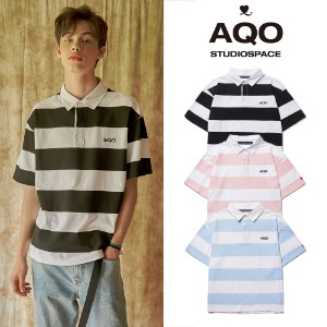 [AQOSTUDIO] AQO LOGO PIQUE T SHIRT 3COLOR