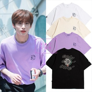 [ROMANTICCROWN] EASY DAY VIBE T-SHIRT 4COLOR_PRODUCE X _ASTRO