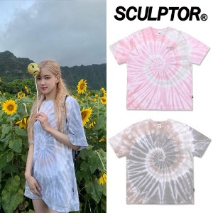 [SCULPTOR] TIE DYE SKATE TEE 2COLOR_BLACKPINK_EDAWN