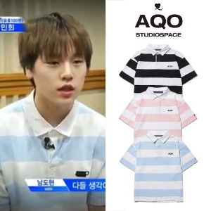 [AQOSTUDIO] AQO LOGO PIQUE T SHIRT 3COLOR_X1