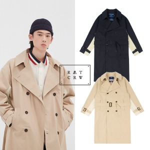 [ROMANTICCROWN] WIDE LAPEL TRENCH COAT 2COLOR