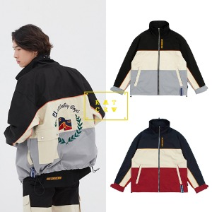[ROMANTICCROWN] PIPING RACING JACKET 2COLOR