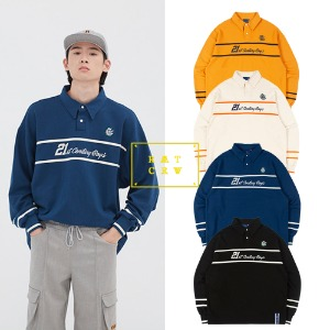 [ROMANTICCROWN] 21C BOYS RUGBY SHIRT 4COLOR