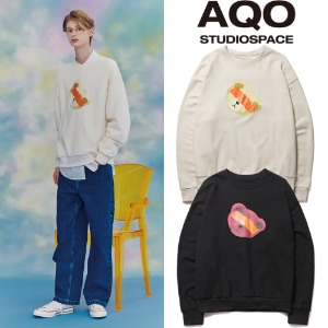[AQOSTUDIO]AQO TEDDY SWEATSHIRTS 2COLOR
