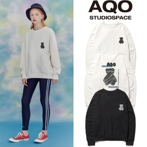 [AQOSTUDIO]AQO BEAR SWEATSHIRTS 2COLOR