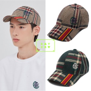 [ROMANTICCROWN] OLD CHECK BALL CAP 2COLOR