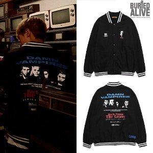 [BURIEDALIVE] BA DAMN VAMPIRES COTTON STADIUM JACKET BLACK