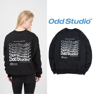 [ODDSTUDIO] WAVE SWEAT SHIRT BLACK