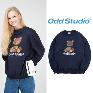 [ODDSTUDIO] BROWNIE SWEAT SHIRTS BLACK