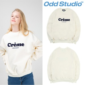 [ODDSTUDIO] CREAM SWEAT SHIRT CREAM