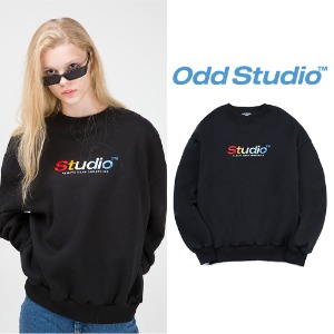 [ODDSTUDIO] COLORFUL SWEAT SHIRT BLACK