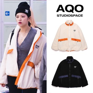 [AQOSTUDIO] AQOXTETRIS HEAVY FLEECE JACKET 2COLOR_TWICE