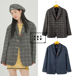 [ROMANTICCROWN] FRIDAY THREE BUTTON CHECK JACKET 2COLOR