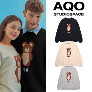 [AQOSTUDIO] AQO ERIC BEAR SWEATSHIRTS 3COLOR