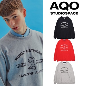 [AQOSTUDIO] AQO ARC GRAPHIC SWEATSHIRTS 3COLOR