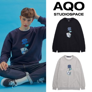 [AQOSTUDIO] AQO FLOWER SWEATSHIRTS 2COLOR