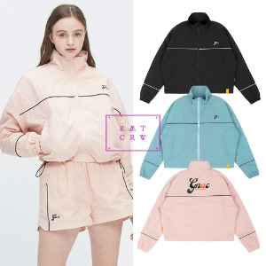 [ROMANTICCROWN] GNAC PIPING WINDBREAKER 3COLOR