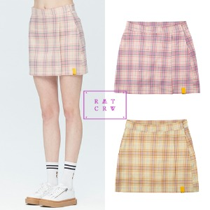 [ROMANTICCROWN WOMAN] TARTAN CHECK WRAP SKIRT 2COLOR