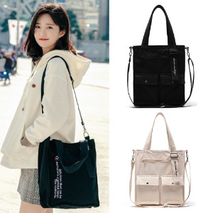 [ROIDESROIS] EXACTLY TWO POCKET CROSS BAG 2COLOR