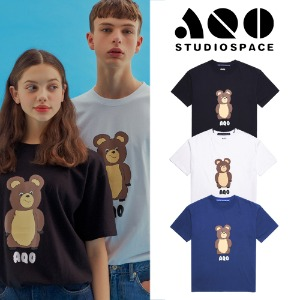 [AQOSTUDIO] AQO ERIC BEAR T-SHIRTS 3COLOR