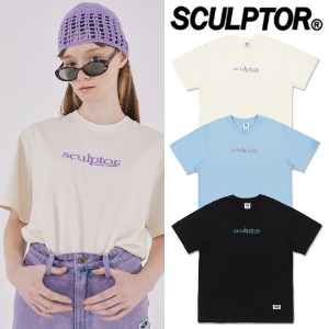 [SCULPTOR] SMALL LOGO EMBROIDERY TEE 3COLOR