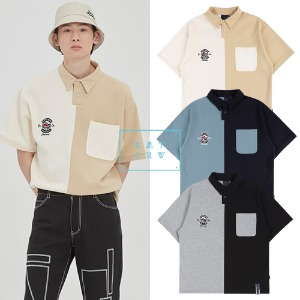 [ROMANTICCROWN] PERFECT GAME HALF POLO SHIRT 3COLOR