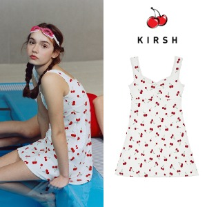 [KIRSH] CHERRY JERSEY ONE-PIECE JH IVORY