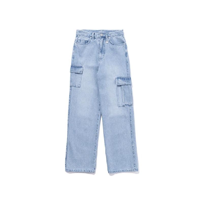 [TARGETTO] WIDE DENIM CARGO PANTS