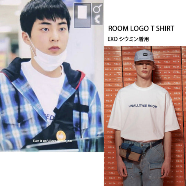 [UNALLOYED] ROOM LOGO T SHIRT WHITE_EXO