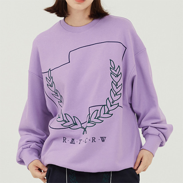 [ROMANTICCROWN] LAUREL CROWN SWEATSHIRT PURPLE_NCT