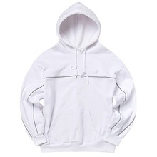 [AKIIICLASSIC] A-LABEL DOUBLE PIPING HOOD WHITE