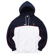 [AKIIICLASSIC] A-LABEL DOUBLE PIPING HOOD NAVY