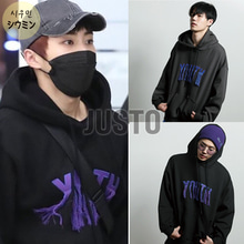 [JUSTO] YOUTH EMBROIDERED HOODIE 2COLOR_EXO