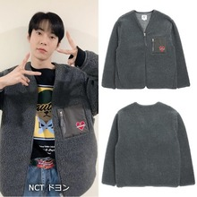 [BEYOND CLOSET]NOMANTIC LOGO F-FUR ZIP-UP JUMPER GRAY_NCT