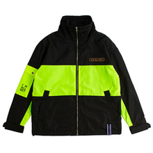 [ROMANTICCROWN] DRAWFIT RACING JACKET BLACK_SEVENTEEN ウジ